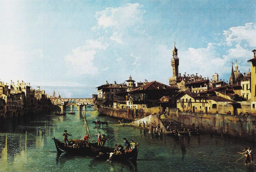 Bernardo Bellotto-Piazza d'Arno (Firenze)