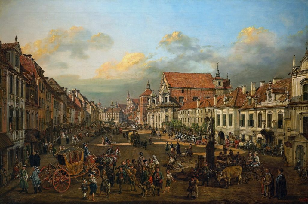 Bernardo Bellotto_Cracow_Suburb_leading_to_the_Castle_Square