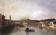 Bernardo Bellotto - Ponte delle navi Verona (paricolare)t