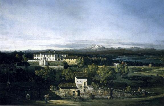 Bernardo Bellotto VIlla Melzi a Gazzada Lombardia (Varese)
