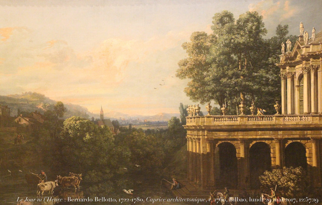 Bernardo Bellotto  Capriccio Architettonico