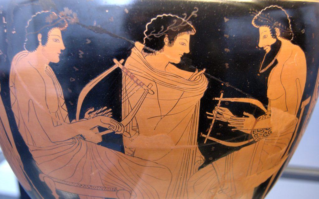 Platone! (1)- Lezione di Musica (Vaso Greco del VI sec. a.C.)