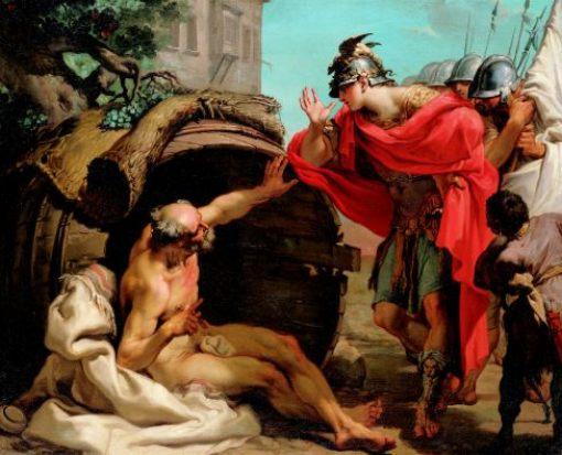 Platone! (1) Gaetano_Gandolfi_-Alessandro e il filosofo Diogene. Il quadro ribadisce l'importanza che la Filosofia aveva nella Grecia Antica. Lo stesso Alessandro ebbe Aristotele come Precettore. Aristotele, allievo di Platone!