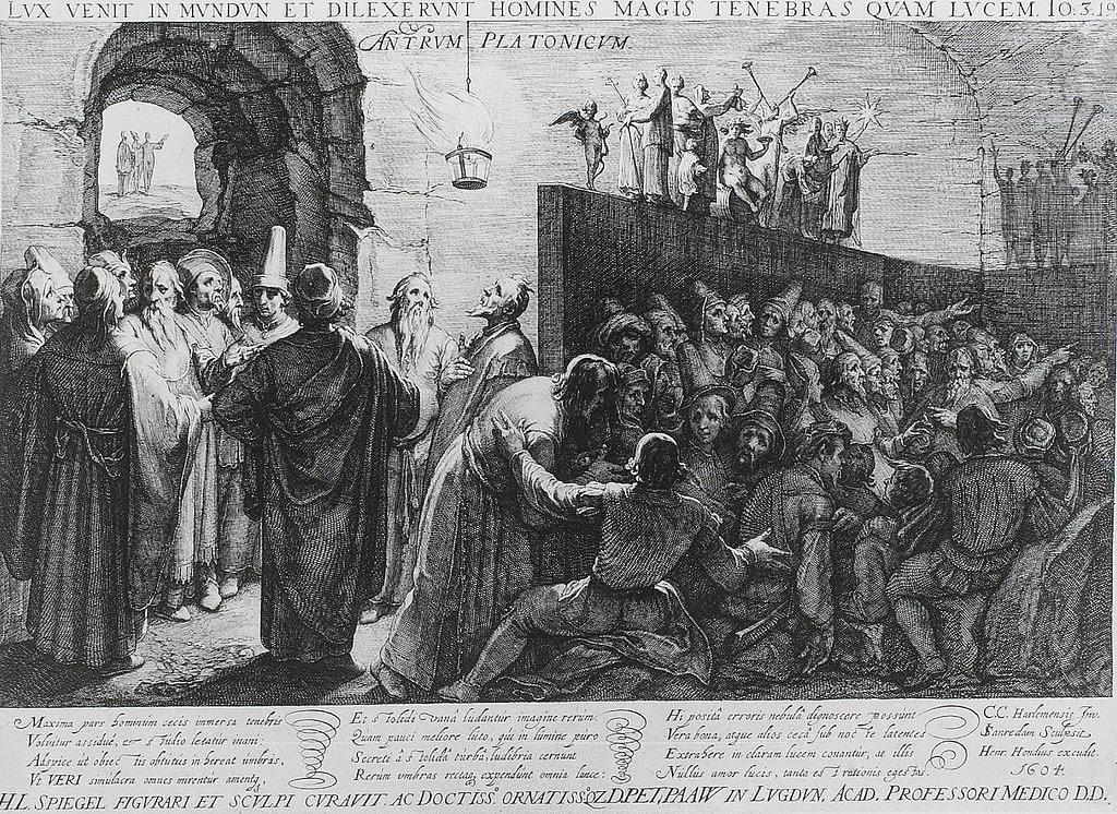 Platone! (1) - Jan Saenredam (1604)- Il Mito della Caverna in Platone