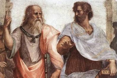 Raffaello Sanzio:  Scuola di Atene Raffaello (part.)