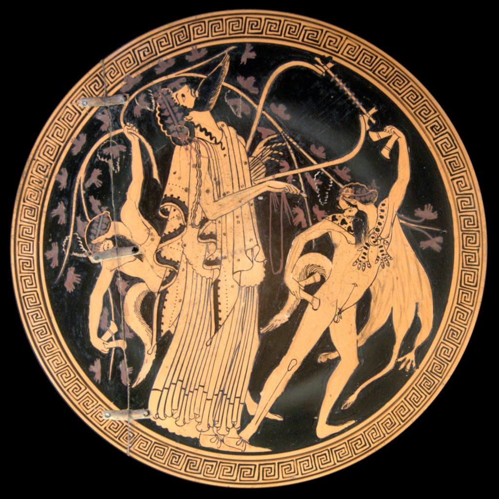 Dioniso con satiri