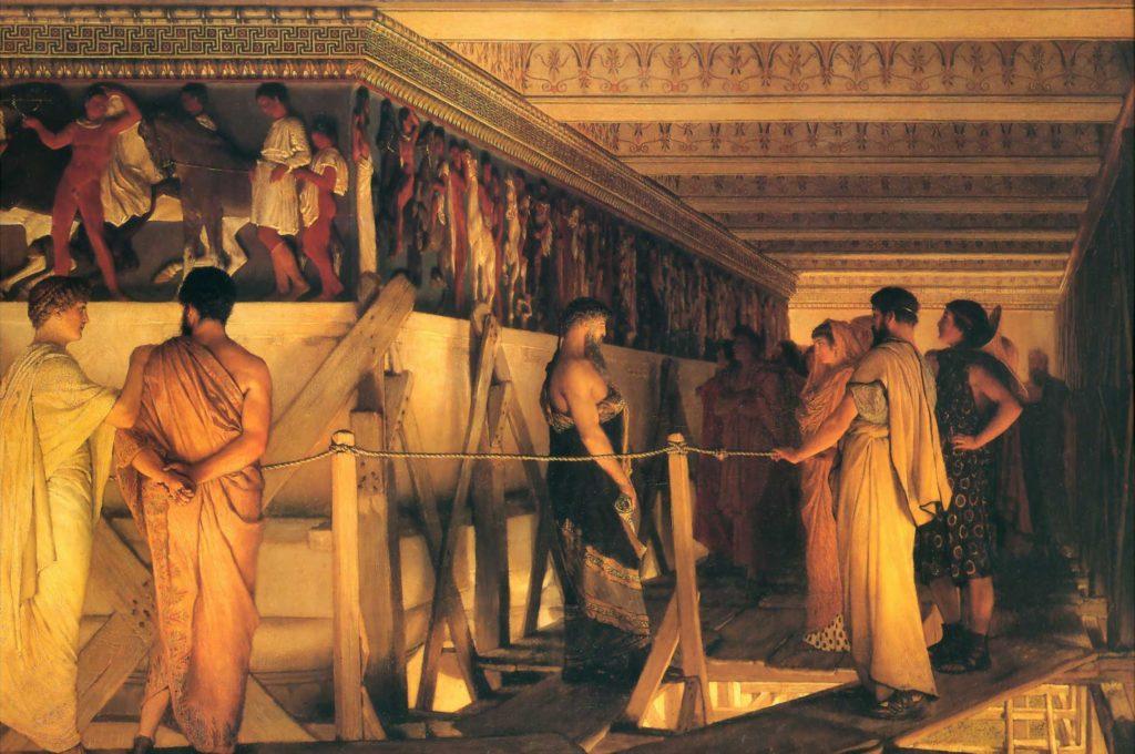 Fidia mostra il Partenone ai suoi amici