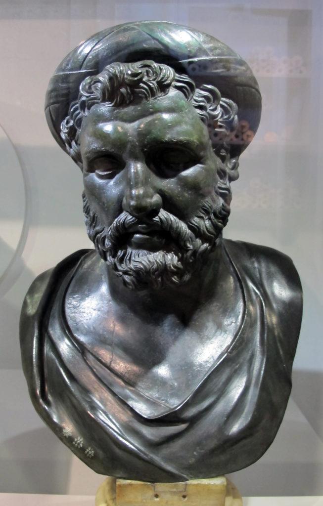 Busto di Archita, poeta e filosofo di Taranto, che fu in corrispondenza con Platone