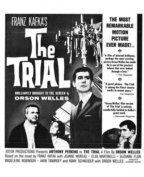 """""""Il Processo"""" film di e con Orson Welles, interamente girato nella Gare d'Austerlitz (Parigi)"""