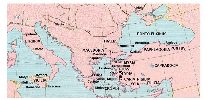 Tracia, patria della madre di Antistene