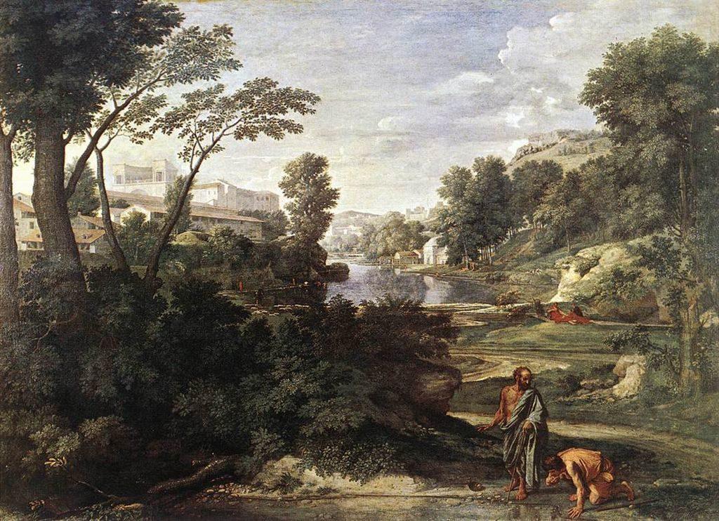 Poussin,_Nicolas_-_Paesaggio con Diogene _-_c._1647