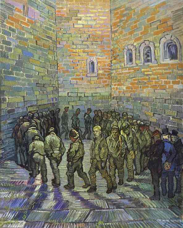 Vincent van Gogh: Prigionieri. COme molti altri di Vincent , quadro kafkiano ante-litteram