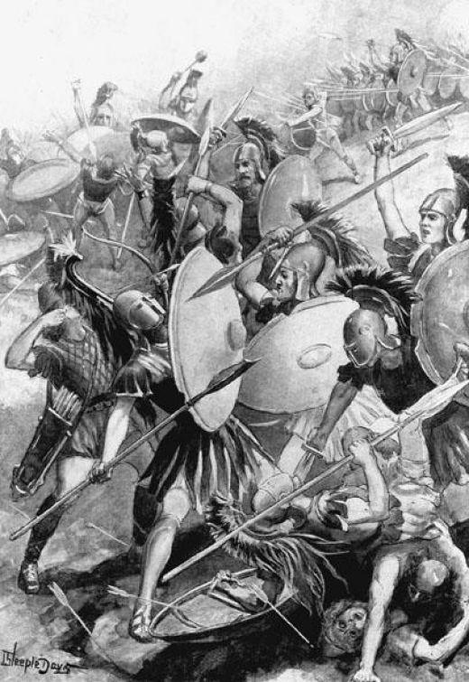 413 a.C. - Sconfitta degli Ateniesi a Siracusa  (illustrazione del XIX secolo)