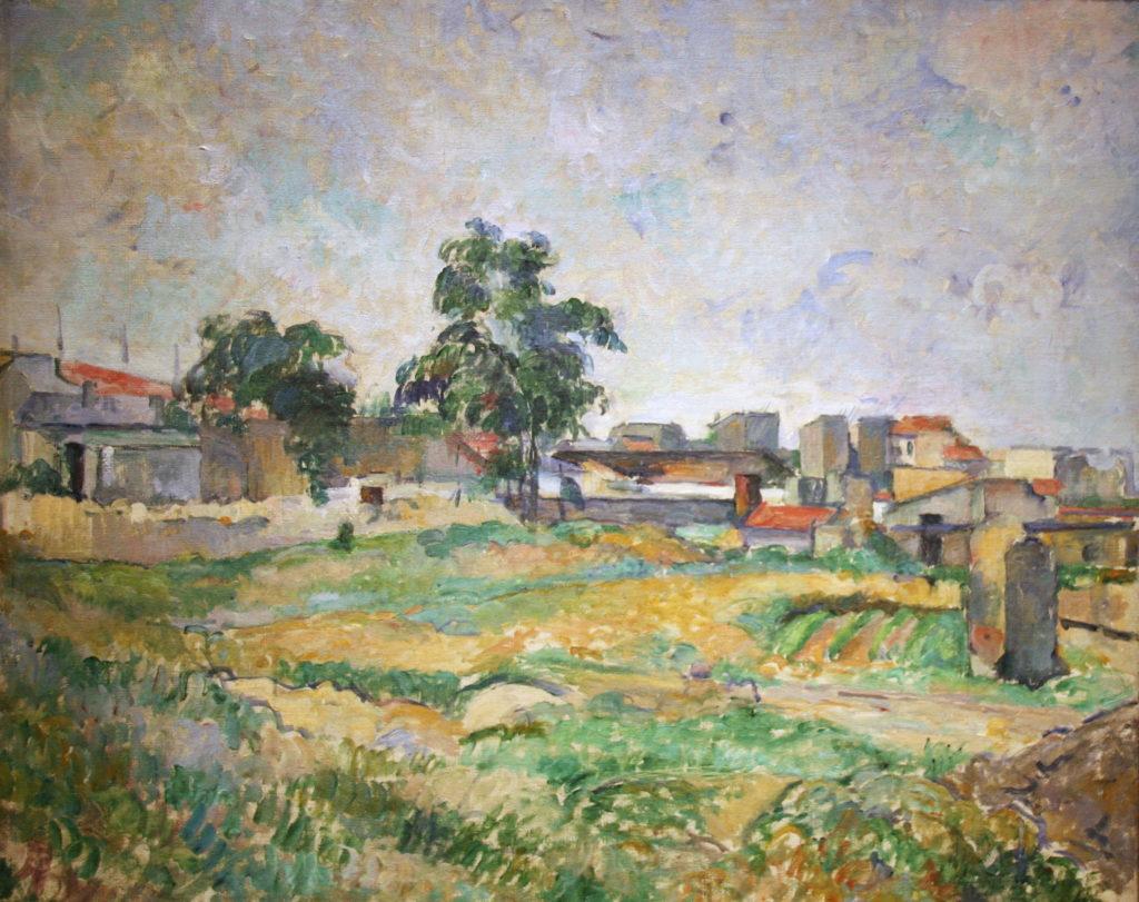 Paul Cézanne- Paesaggio vicino a Parigi
