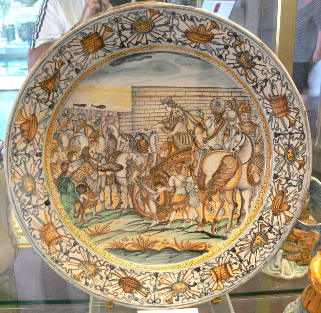 Firenze  Bargello_-_Maiolica_Alessandro Magno