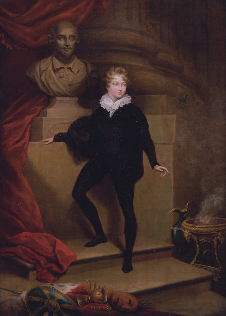 Master Betty as Hamlet, before a bust of Shakespeare  *oil on canvas  *55.9 x 40.6 cm  *between 1804 and 1806
