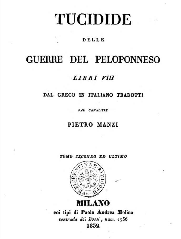 Tucidide: La Guerra del Peloponneso. Libro III