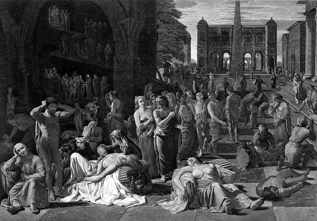 J.Fittler: La peste di Atene (incisione) . Biblioteca Centrale di Londra