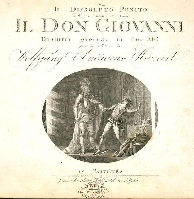 """Locandina del """"Don Giovanni"""""""