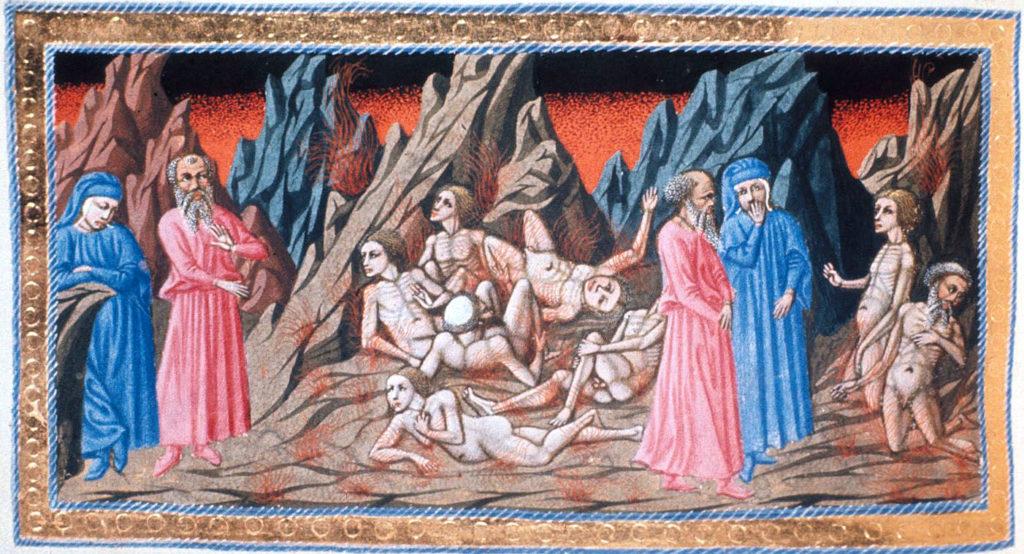 Priamo della Quercia: Dante e Virgilio nel Girone dei Consiglieri Fraudolenti (Ulisse, Diomede, Duca di Montefeltro)