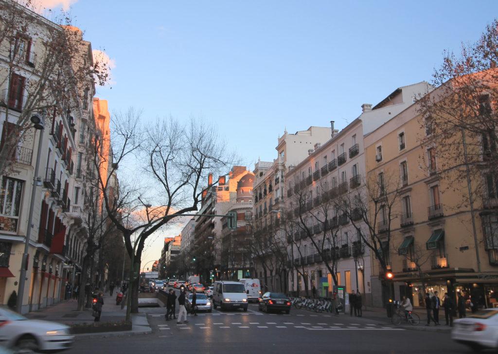 Calle de Jose Ortega y Gasset (street) in Madrid (Spain).