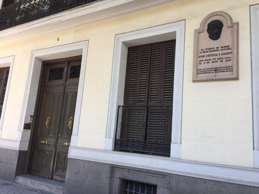 José Ortega y Gasset: Casa natale (Madrid)